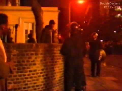 Continuity and BBC news flash about rioting in Brixton: 28 Sep 1985