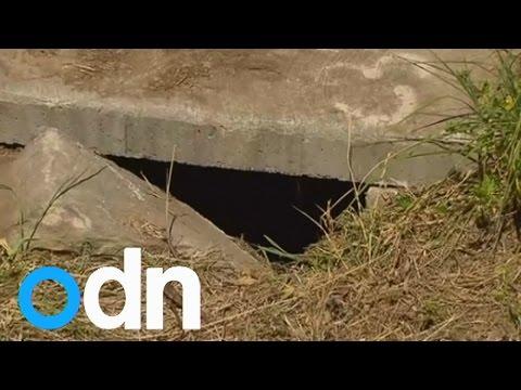 Newborn baby found alive at bottom of drain