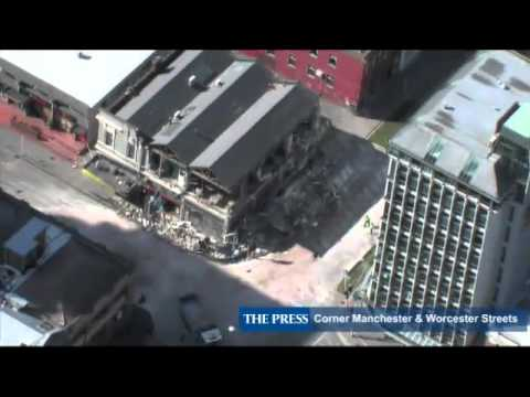 Aerial footage of Christchurch earthquake damage