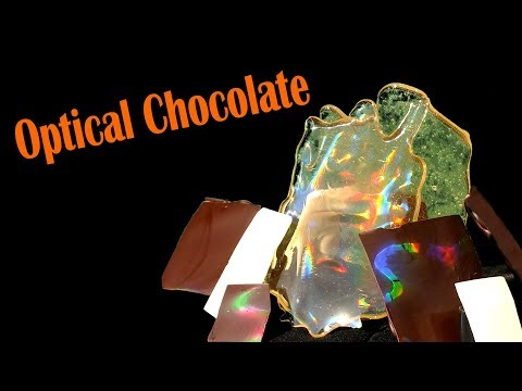 Optical Chocolate - Making Diffraction Gratings