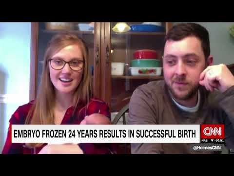 Tina and Benjamin Gibson | Baby born from embryo frozen 25 years ago