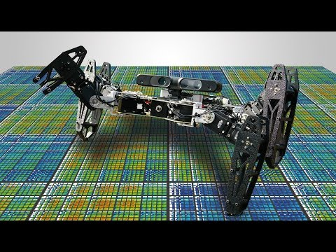 Robots that can adapt like animals (Nature cover article)