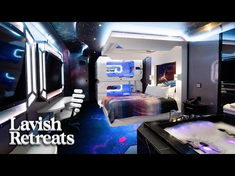 We tour THE MOST UNIQUE theme room hotel in the world!