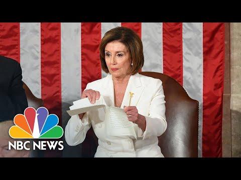 Watch Nancy Pelosi Rip Up Copy Of President Donald Trump's State Of The Union Speech | NBC News