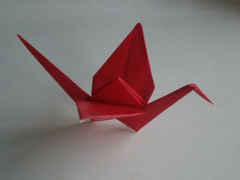 Origami: Crane [tutorial]