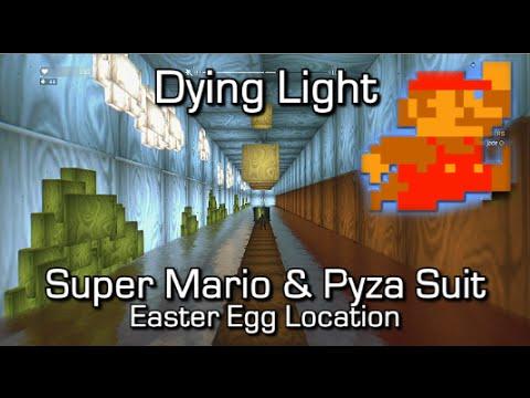 Dying Light - Super Mario World 1-1 Easter Egg & Pyza Suit (Wingsuit) Blueprint Location