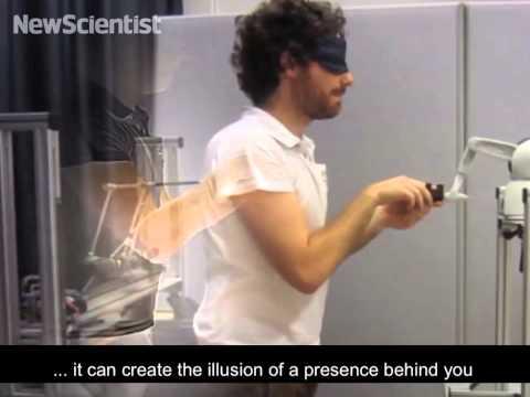 Robot arms recreate feeling of alien presence