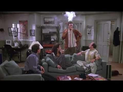 Seinfeld Clip - Kramer Sets His Hair On Fire