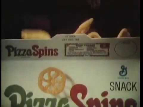 1968 Pizza Spins snacks commercial