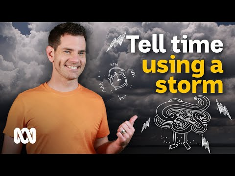 How to tell the time using a thunderstorm 🕒🌩️ | Weird Weather | ABC News