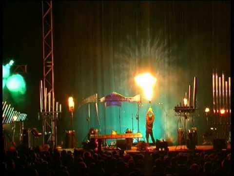 Michel Moglia. Pyrophones et Chants Thermiques : Performance à Auxerre.