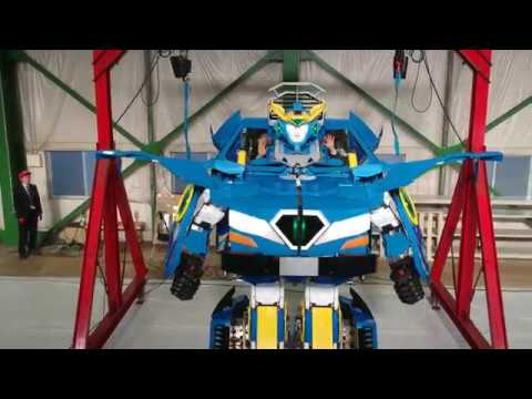 J-deite RIDE transforming from vehicle to humanoid robot
