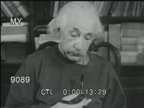Albert Einstein Smokes His Pipe