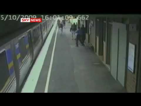 Baby hit by train and survives (Sky news)