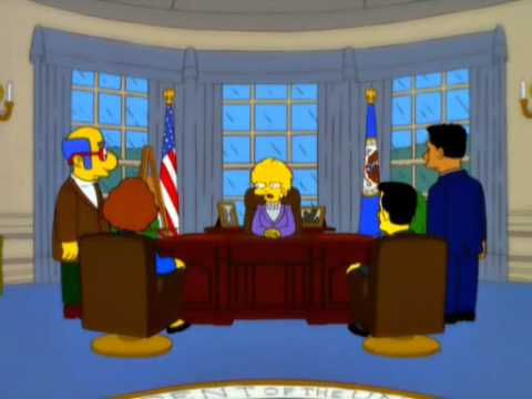 Lisa Simpson calls Donald Trump Presidency, Increased Debt