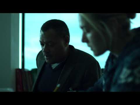 Move away from the table and call everyone scene from the film Contagion (2011)