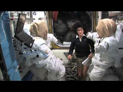 ISS Tour: Labs, Exercise Bike & Space Suits | Video