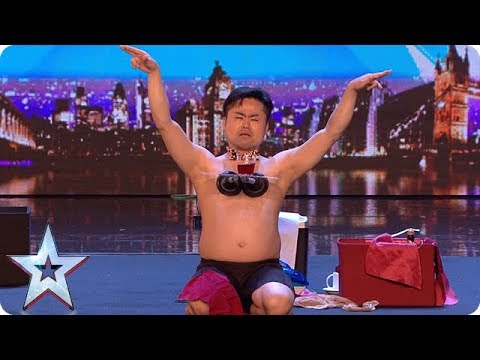 Mr Uekusa gives us a strip show with a twist! | Auditions Week 1 | Britain's Got Talent 2018