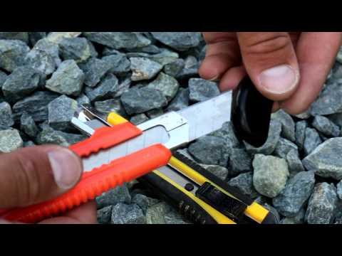 ✂ Лайфхак канцелярского ножа или как правильно отламывать затупившееся лезвие