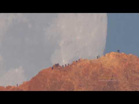 Moon Setting Behind Teide Volcano