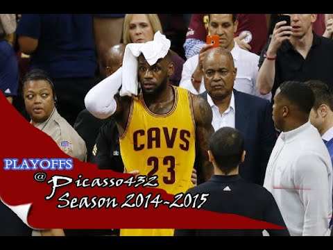 LeBron James NASTY CUT on his head - crashed into a TV CAMERA - But returns OK !