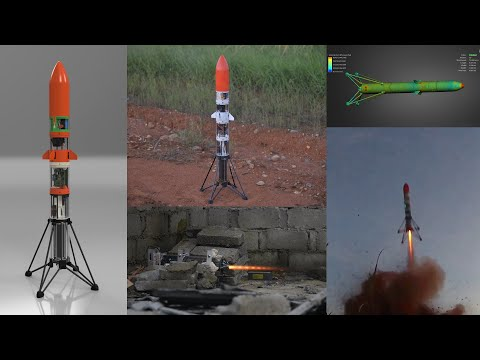 Successful launch of TVC self stabilized rocket