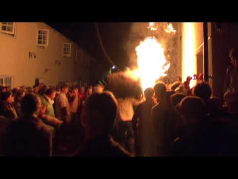 Ottery St Mary Flaming Tar Barrels on Guy Fawkes Night 2009
