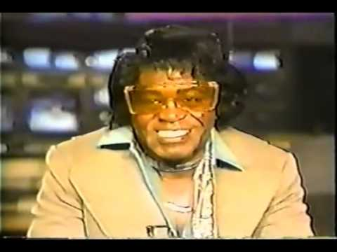 James Brown getting interviewed high as kite