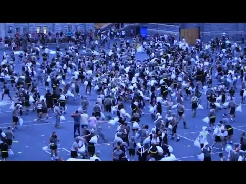 30 injured in West Point traditional pillow fight