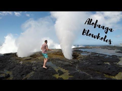 SAVAII SAMOA ][ TRAVEL VLOG ][ ALOFAAGA BLOWHOLES and AFU AAU FALLS
