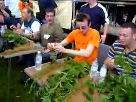 2007 World Champion Stinging Nettle Eating Competition