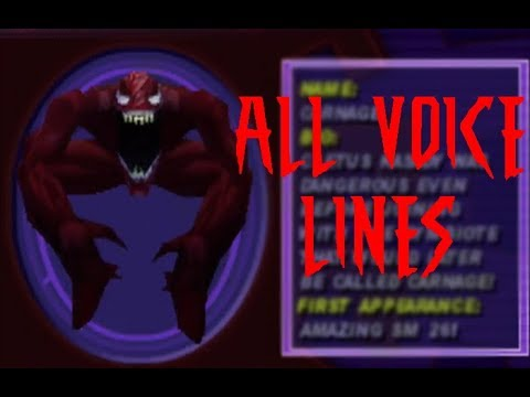 Spider-man 2000 - All Carnage voice lines + What if mode