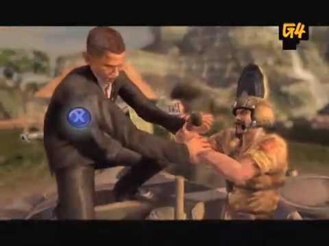Obama and Palin in Mercenaries 2