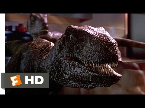 Jurassic Park (1993) - Raptors in the Kitchen Scene (9/10) | Movieclips