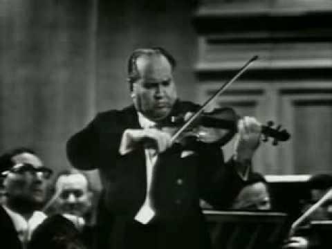 David Oistrakh plays Tchaikovsky Concerto (1st Mov.) Part 1