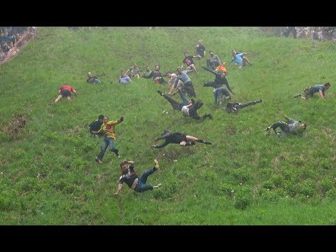 Injuries at annual cheese rolling contest 2018 in UK