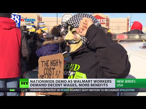 Walmart workers protest corporate greed, demand decent wages