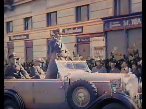 German Troops March Into Austria (1938) (Color!)