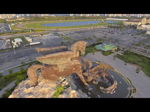 Drone Video of Pegasus and Dragon at GulfStream Park