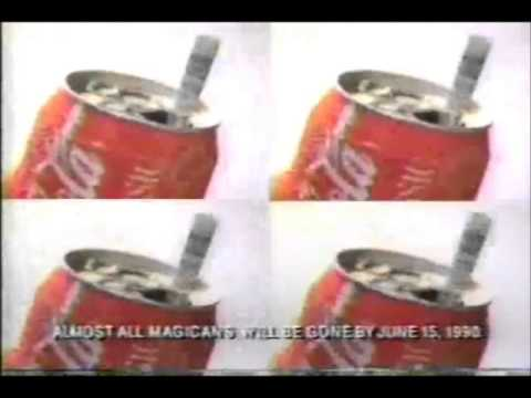Coke Magic can game 1990 commercials