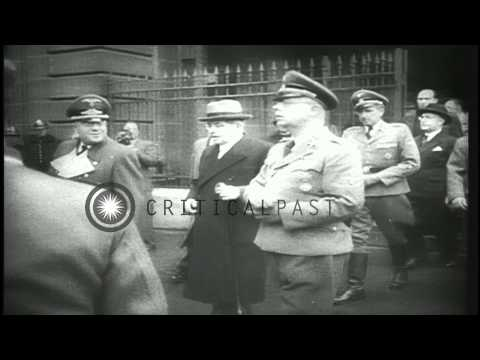 Former Prime Minister of France, Pierre Laval, is executed for treason, Paris, Fr...HD Stock Footage