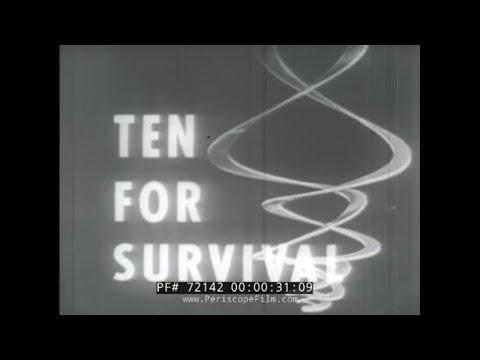 "CIVIL DEFENSE ATOMIC BOMB FILM ""TEN FOR SURVIVAL"" 72142"