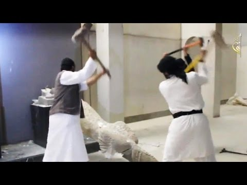 ISIS destroys ancient artifacts in Mosul