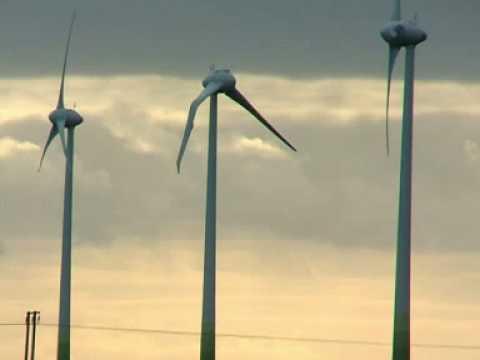 UFO crash hits wind turbine