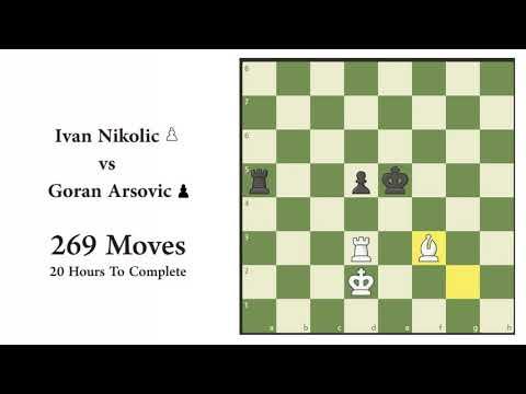 Ivan Nikolic vs. Goran Arsovic | Longest Chess game 269 Moves