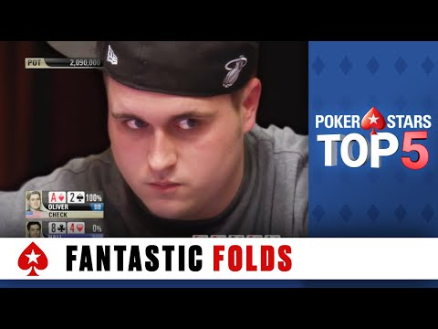 Top 5 Fantastic Folds ♠️ Poker Top 5 ♠️ PokerStars Global
