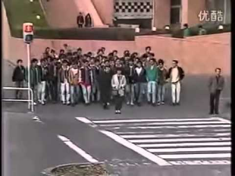 Funny japanese candid camera prank ~100 people lie down all at once suddenly~ YouTube