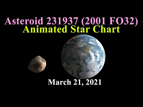 Asteroid 231937 (2001 FO32) Animated Star Chart (Requires BIG 4K screen)
