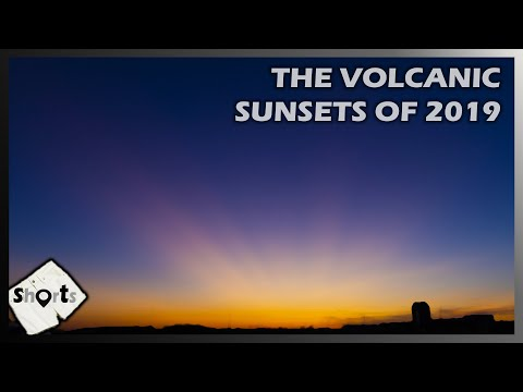Volcanic Sunsets 2019, Raikoke, Ulawun Volcanoes create Purple Sunsets SOT: SHORTS