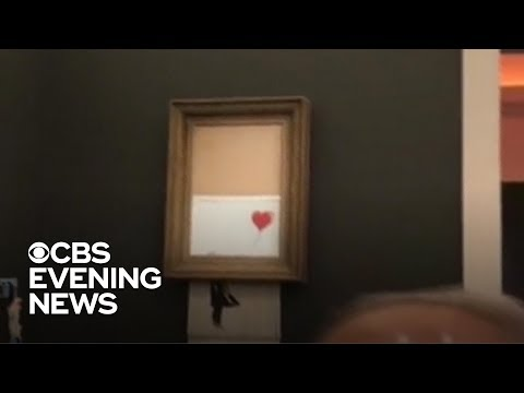 Banksy painting self-destructs